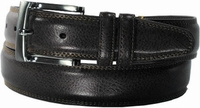 """Florsheim Genuine Pebble Grain Leather Belt with Double Keepers Black 1 1/4"""" Wide"""