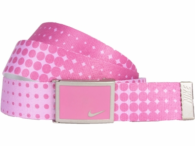 Nike Golf Sport Women's Dot Print Web Belt <br>Red Violet <br>13088264