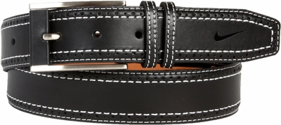 Nike Golf Tour Men's Perforated Edge Premium Leather Belt Black 1120401