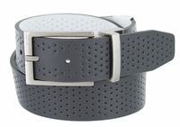 Nike Golf Tour Men's Perforated Reversible Leather Belt Dark Grey/White 11188156