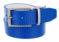 Nike Golf Tour Men's Perforated Reversible Leather Belt Military Blue/White 11188248