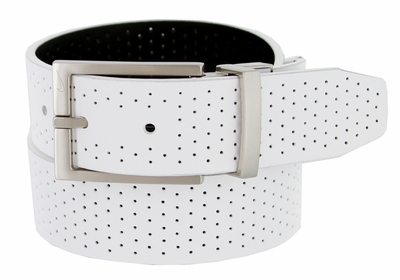 Nike Golf Tour Men's Perforated Reversible Leather Belt White/Black 1118853
