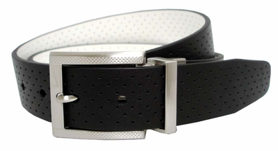 Nike Perforated Reversible Golf Belt Black/White 1108925