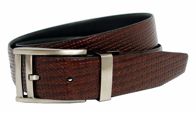 Nike Reversible Basket Texture Golf Belt Brown/Black 1110420