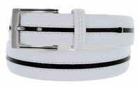 2889500 PGA TOUR Men's Leather Golf Belt - White/Black