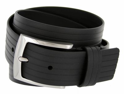 3311510 PGA TOUR Men's Silicon Ribbed Golf Belt - Black