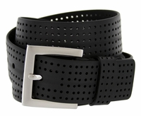 3301500 PGA TOUR Silicone Perforated Golf Belt - Black