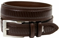 Ping Perforated Leather Dress Golf Belt-Brown