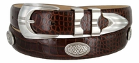 SilverWood Italian Leather Golf Conchos Belt