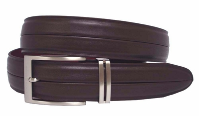 Techno Sleek Mens Golf Belt Tiger Woods Brown