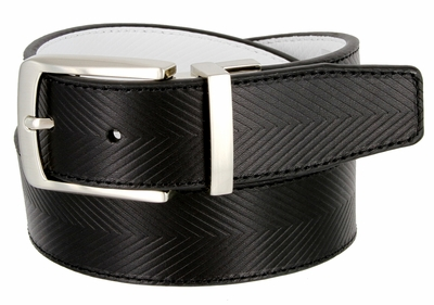 Tiger Woods Embossed Reversible Leather Golf Belt Black/White 1207525