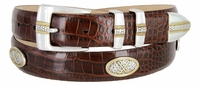 Towne Men's Italian Calfskin Leather Golf Designer Belt