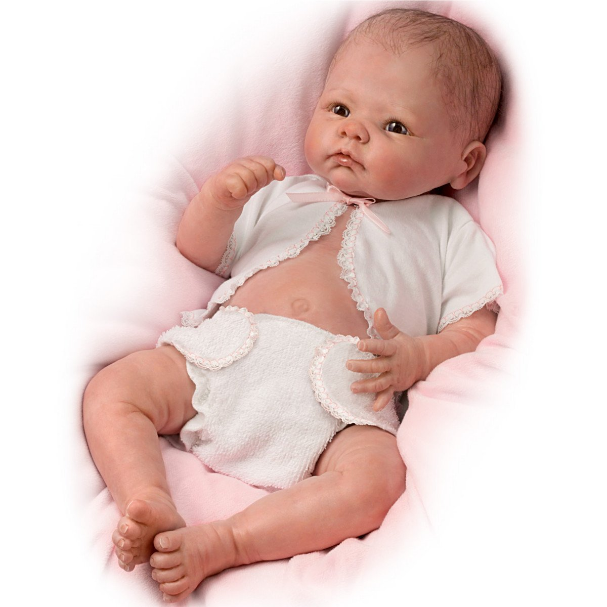 Ashton drake lifelike baby doll by linda murray little for The ashton