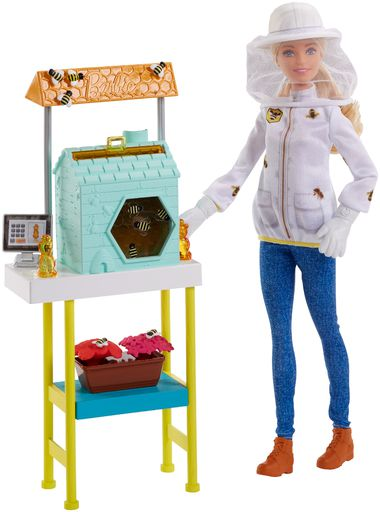 Barbie Beekeeper Doll 2018 With Play Bees Frm17 Playset