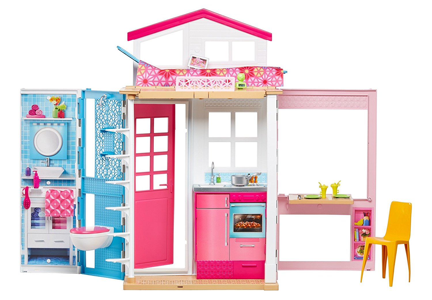 Dvv47 barbie 2 story house for Accessory house