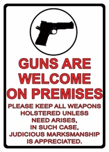 Guns Are Welcome