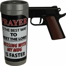 Prayer is the Best Pistol Mug
