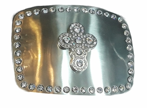 Crystal Cross Buckle