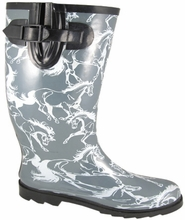 Running Horses Rubber Boots
