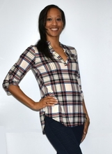 Plaid Fashion Top