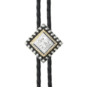 Diamond with Beads Bolo