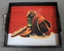 Boots and Hat Serving Tray