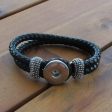 Leather Rope Snap Bracelet