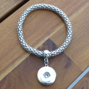 Metal Stretch Snap Bracelet