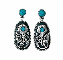 Turquoise Posy Earrings