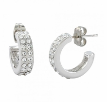 Double Shine Hoop Earrings