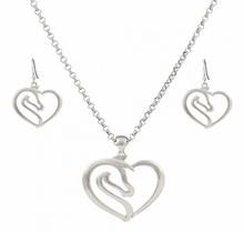 Equestrian Heart Jewelry Set