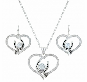 Blacksmith's Treasure Heart Jewelry Set