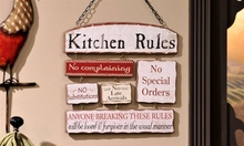 Kitchen Rules Wall Sign