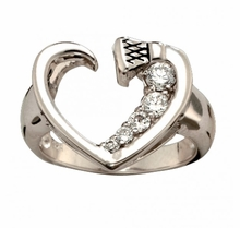 Horseshoe Nail Heart Ring