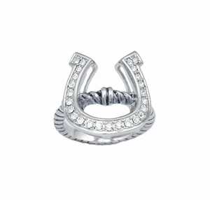 Horseshoe on a Rope Ring