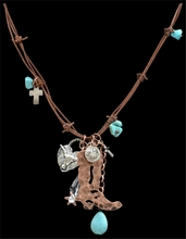 Boot & Longhorn Necklace