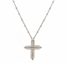 Convertible Cross and Chevrons Necklace