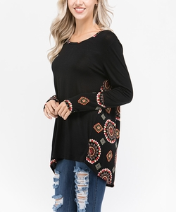 Contrast Fashion Top