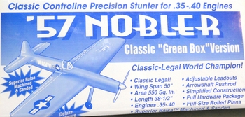 "57"" Nobler Control Line Balsa Wood Model Airplane Kit RSM Dist"