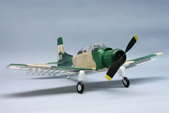A-1E Skyraider #329 Dumas Balsa Wood Model Airplane Kit Rubber Powered