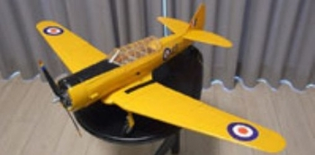 AT-6 Texan (Harvard Trainer) #FF77 Easy Built Models Balsa Wood Model Airplane Kit Rubber Powered