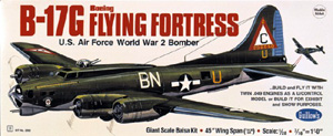 "B-17G Flying Fortress 45.75"" Guillows #2002  Wood Model Airplane Kit"