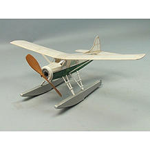 "Beaver DHC2 #230 Dumas 18"" Wingspan Balsa Wood Model Airplane Kit Rubber Powered"