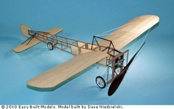 Bleriot XI #LC99 Easy Built Balsa Wood Model Airplane Kit Rubber Powered