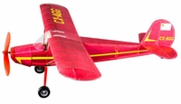Cessna 140 #516 Vintage Model Co Balsa Wood Model Airplane Kit Rubber Powered
