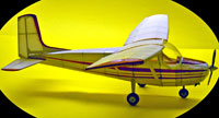 Cessna 172, Easy Built Models #EB16 Balsa Wood Model Airplane Kit
