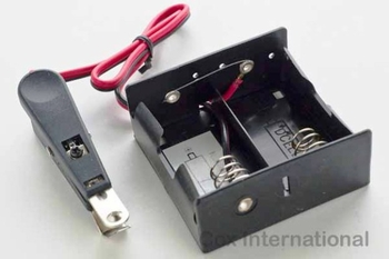 Cox Starter Battery Box (with clip) (without batteries) #49BATBX
