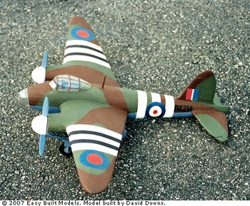 de Havilland Mosquito Bomber, Easy Built Models #D01 Balsa Wood Model Airplane Kit
