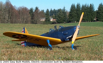 Fairchild PT-19, Easy Built Models #LC06 Balsa Wood Model Airplane Kit Rubber Powered  w/LASER CUT PARTS