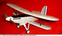 Fairey Fox, Easy Built Models #FF33 Balsa Wood Model Airplane Kit